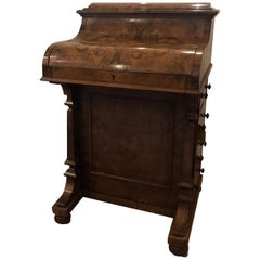 19th Century English Walnut Davenport Desk