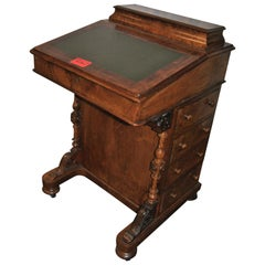 19th Century English Walnut Davenport Desk
