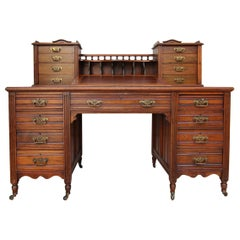 19th Century English Walnut Writing Desk of Reverend William Kelly