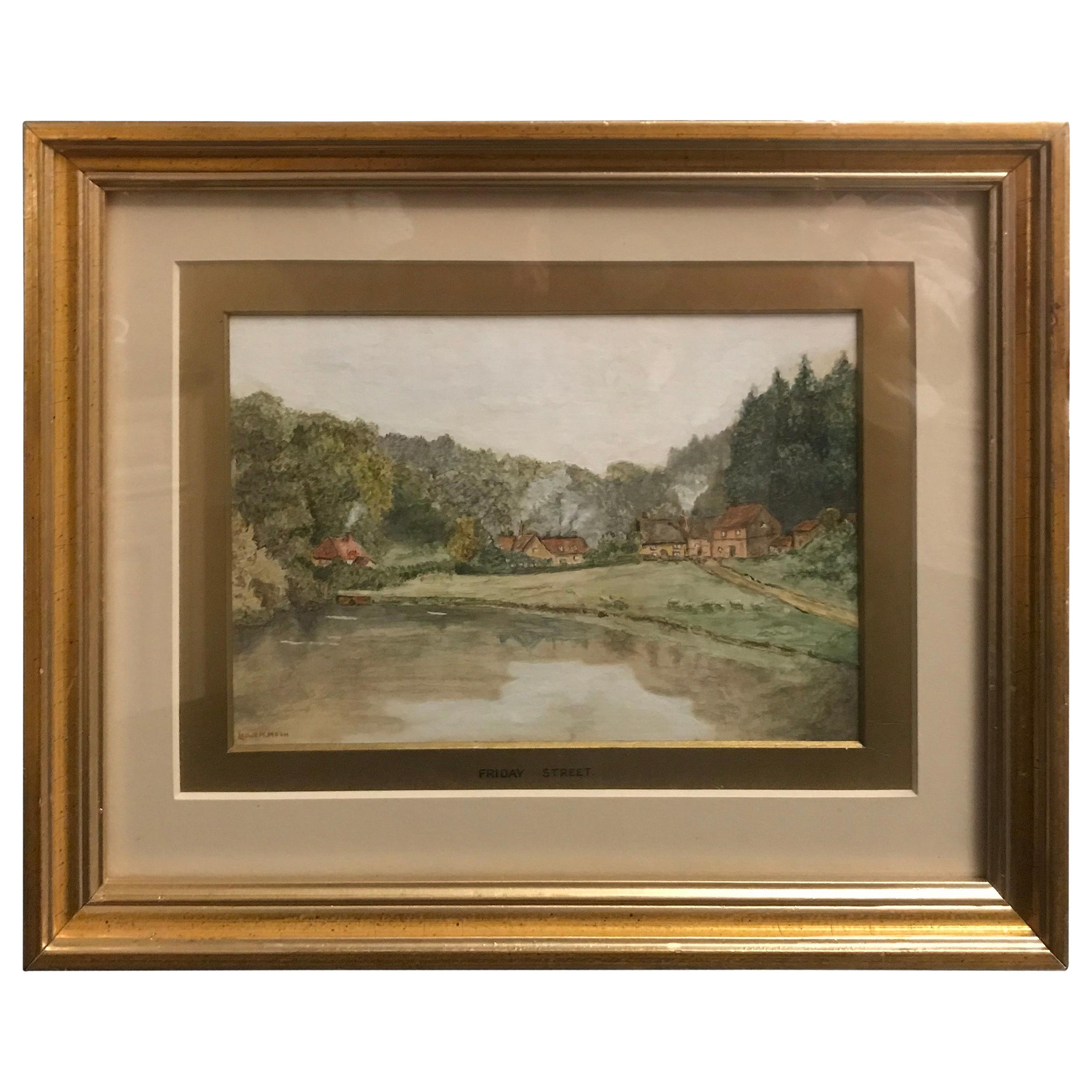 19th Century English Watercolor Artist Signed Leslie Moon