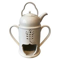 19th Century English Wedgwood Creamware Pot and Warmer
