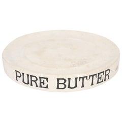 19th Century English White Ironstone Pure Butter Dish
