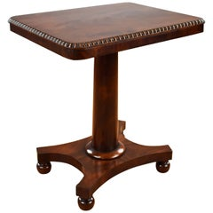 19th Century English William IV Flame Mahogany Occasional Table