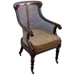 19th Century English William IV Mahogany Library Chair