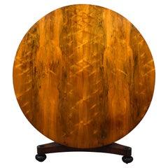 19th Century English William IV Rosewood Circular Dining Table