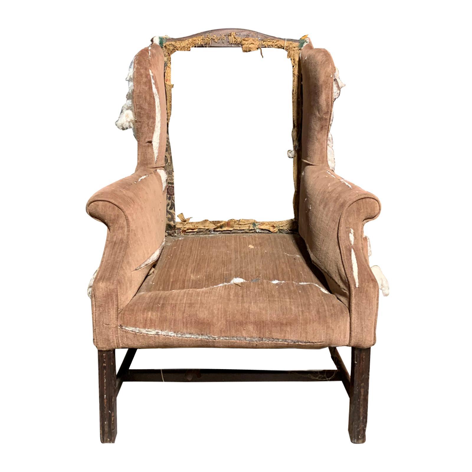 19th Century English Wingback Chair