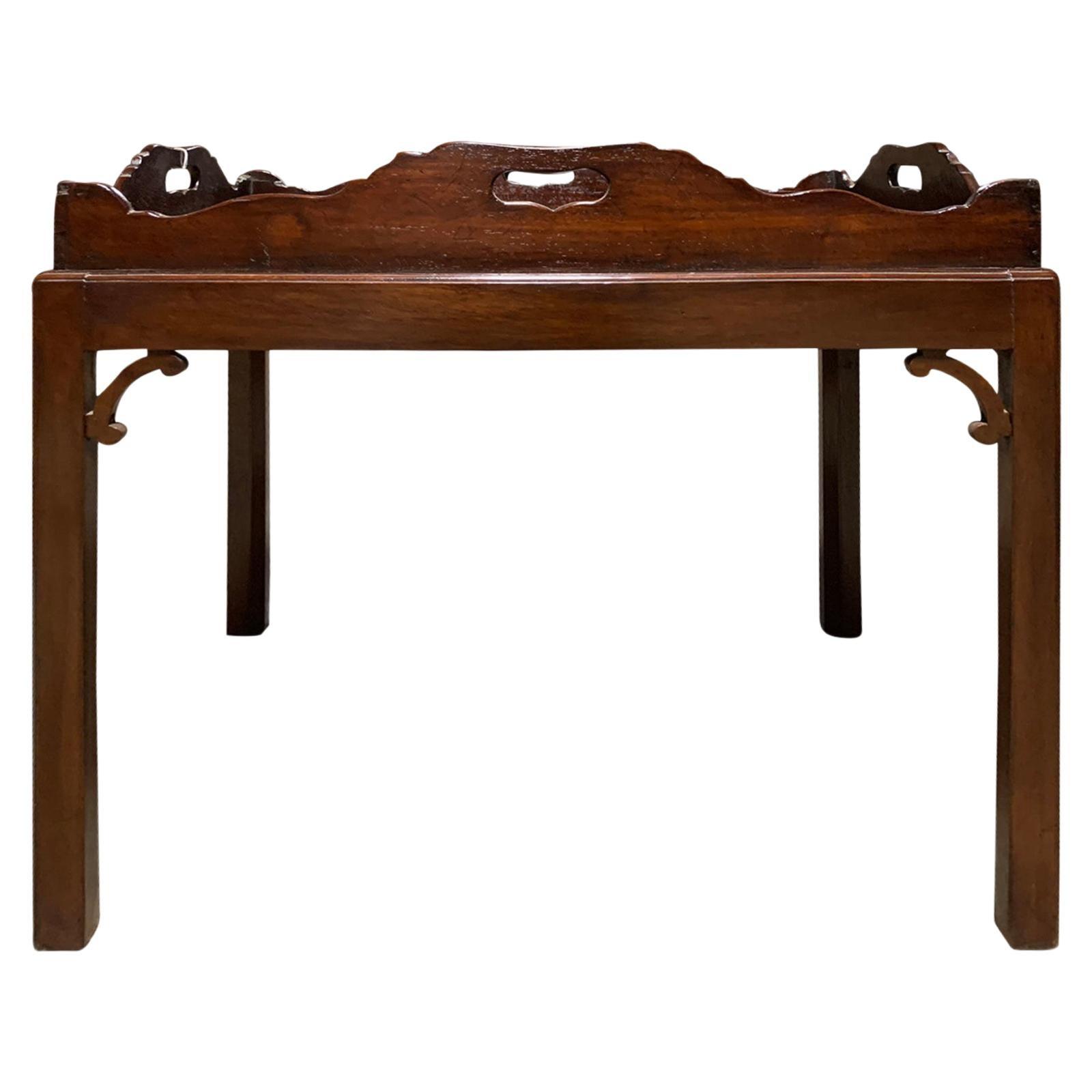 19th Century English Wood Tray Table