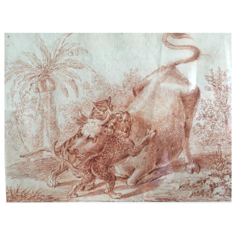 19th Century Engraving in an Orientalist Theme For Sale