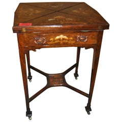 19th Century Envelope Game Table