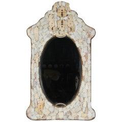 Antique Hand Carved Bone Mirror