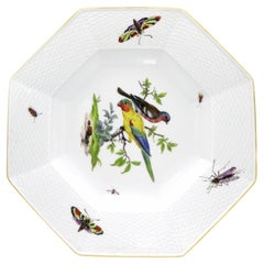 19th Century European Hand Painted Porcelain Meissen Plate in White