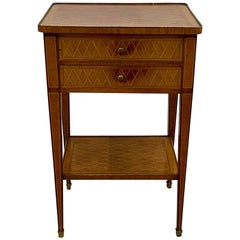 19th Century European Kingwood Side Table with Drawers