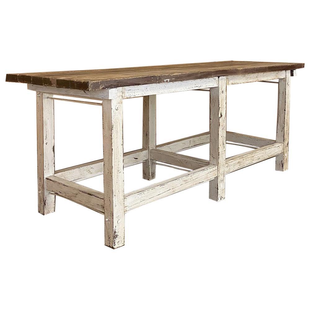 19th Century European Painted Farm Table