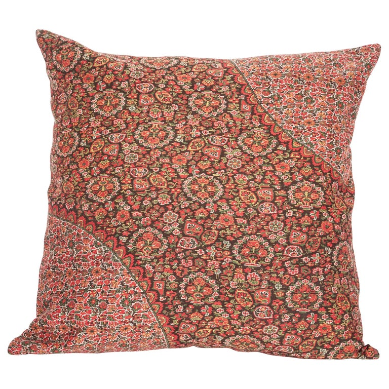 19th Century European Paisley Wool Pillow For Sale