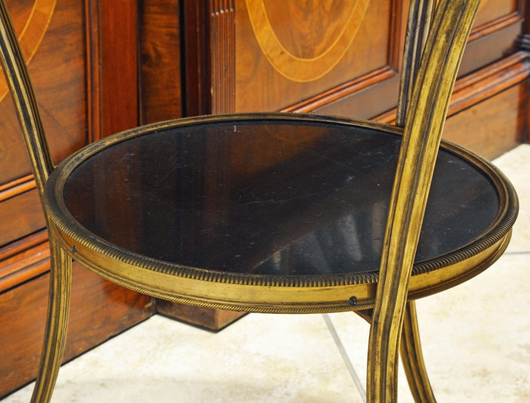 19th Century Excellent French Empire Bronze and Marble Two-Tier Gueridon Table For Sale 1