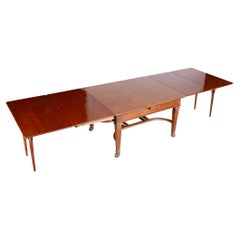19th Century Extendable Table, Made in France, Fully Restored Mahogany, Empire