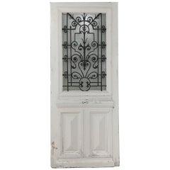 19th Century Exterior Door with Wrought Iron