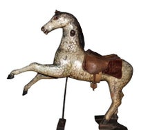 19th Century Fairground Horse with Original Saddle and Paint