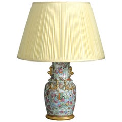 19th Century Famille Rose Porcelain Vase Lamp
