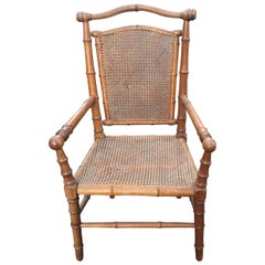19th Century Faux-Bamboo Armchair