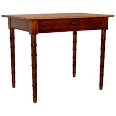 19th Century Faux Bamboo Side Table
