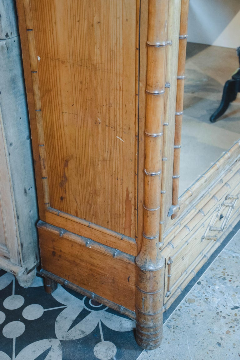 19th Century Faux Bamboo Wardrobe For Sale 3
