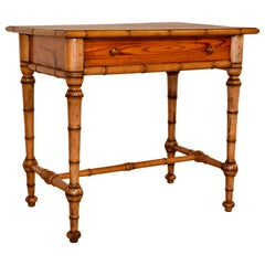 19th Century Faux Bamboo Writing Desk