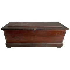 19th Century Faux Grained Carpenters Chest