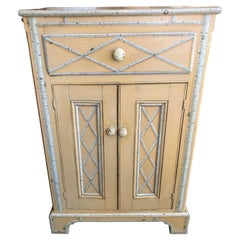 19th Century Faux Painted Side Cabinet