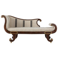 19th Century Faux Rosewood Chaise Lounge