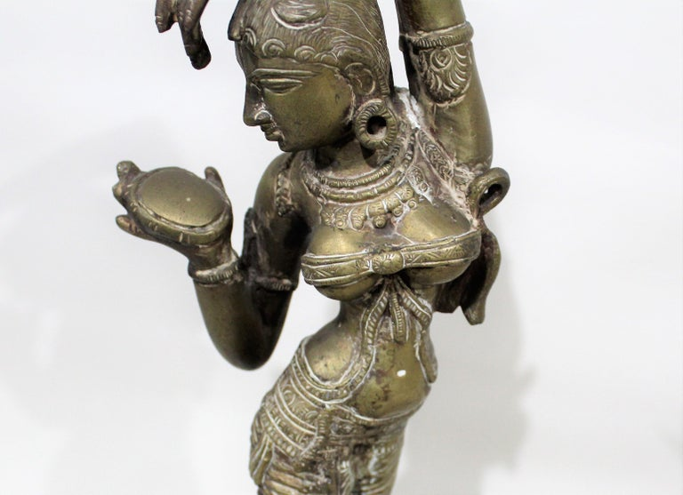 19th Century Female Bronze Indian Sculpture For Sale 10