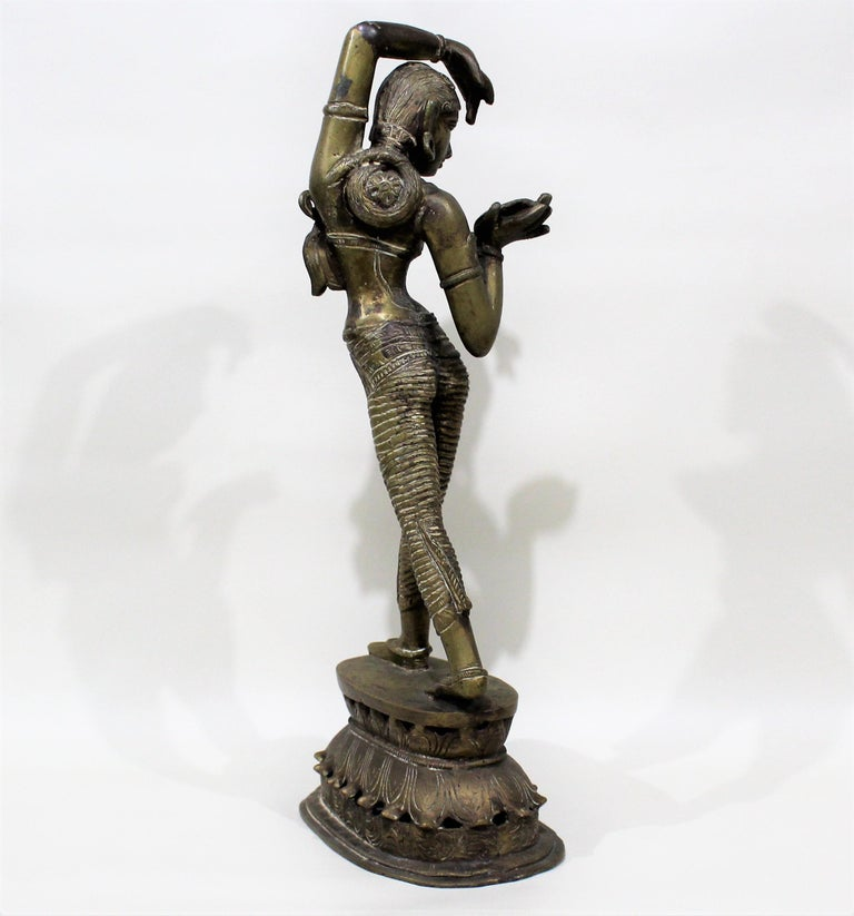 19th Century Female Bronze Indian Sculpture For Sale 3