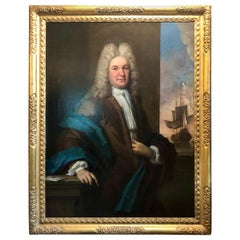 17th/18th Century Fine Antique Portrait of a Gentleman Oil on Canvas