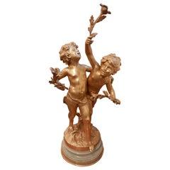 19th Century Fine Bronze Dore French Bronze by Aug Moreau