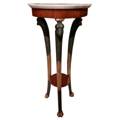 19th Century Fine Empire Mahogany and Parcel Gilt Marble Top Gueridon Pedestal