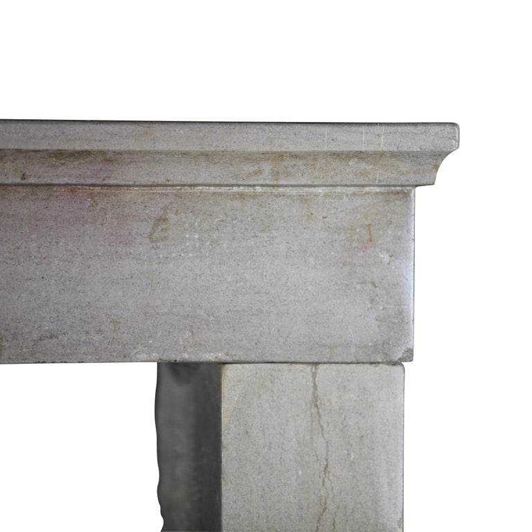 Louis Philippe 19th Century Fine French Antique Fireplace Surround in Limestone For Sale