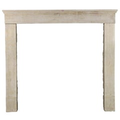 19th Century Fine French Antique Fireplace Surround in Limestone