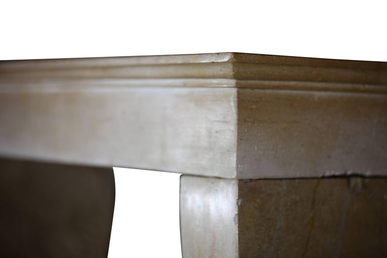 Louis Philippe 19th Century Fine French Limestone Antique Fireplace Surround For Sale