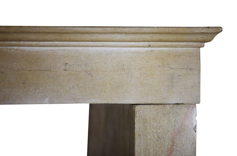 19th Century Fine French Limestone Antique Fireplace Surround For Sale 2