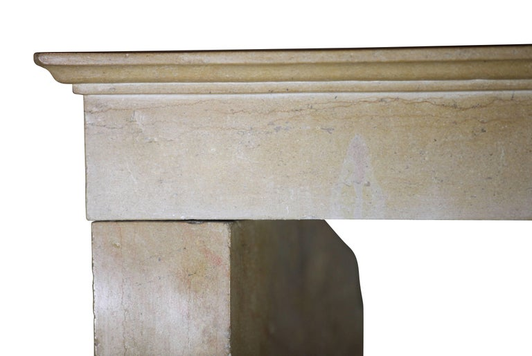 19th Century Fine French Limestone Antique Fireplace Surround For Sale 3