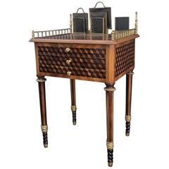 19th Century Fine French Louis XVI Neoclassical Style Center Writing Desk