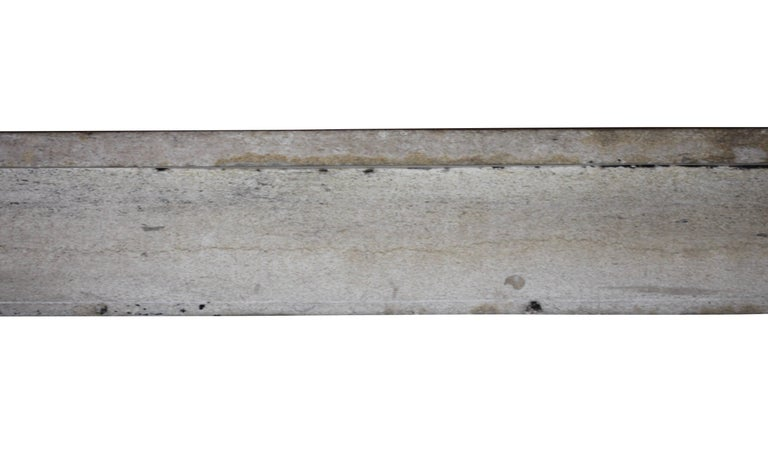 Louis Philippe 19th Century Fine French Rustic Limestone Antique Fireplace Surround For Sale