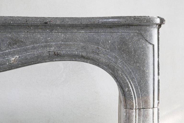 Other 19th Century Fireplace of French Marble Stone in Style of Louis XV For Sale