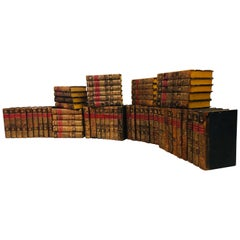 19th Century First Edition Collection of Dictionaries in Full Group of 60 Books