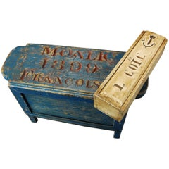 19th Century Fisherman Stool and Tacklebox