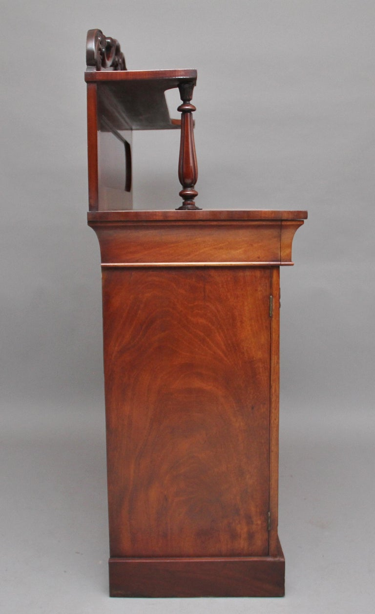 19th Century Flame Mahogany Chiffonier For Sale 4