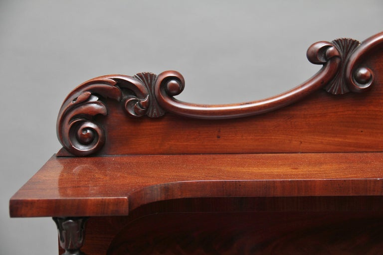 19th Century Flame Mahogany Chiffonier For Sale 6