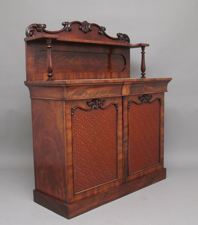 Mid-19th Century 19th Century Flame Mahogany Chiffonier For Sale