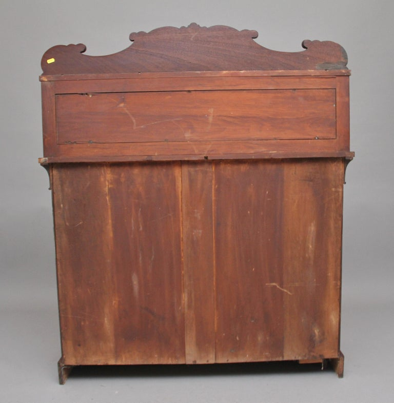 19th Century Flame Mahogany Chiffonier For Sale 3