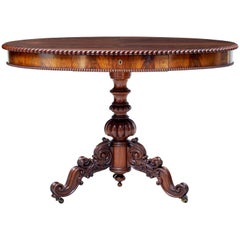 19th Century Flame Mahogany Oval Center Table